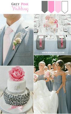 Grey and Pink Wedding