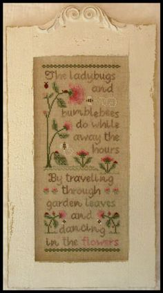 COUNTRY COTTAGE NEEDLEWORKS - Ladybugs and Bumblebees