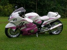 Pink and white hyabusa