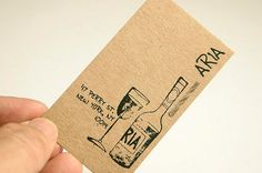 200 Business Cards or tags  13 PT brown kraft by printforbrand, $75.00