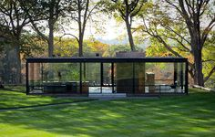 Phillip Johnson's Glass House in New Canaan - down the road