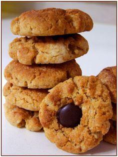 Chocolate Morno: Biscoitos de manteiga de amendoim com chocolate