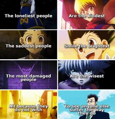 The feels. Feeeeels. Hunter x Hunter.
