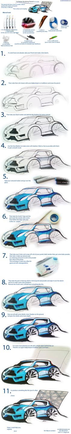 Car Marker Render Tutorial by ecco666.deviantart.com on @deviantART