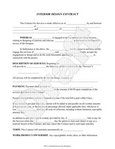 Free small business labor invoices free invoice template - Interior design contract template ...