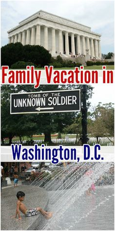 Washington DC is an excellent place for a family vacation. Many of the attractions are free!