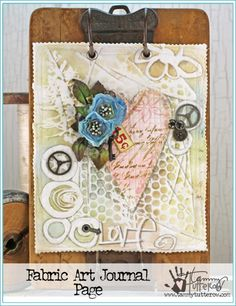 Fabric Art Journal Page by Tammy Tutterow | www.tammytutterow.com
