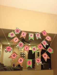 Zoo themed birthday banner