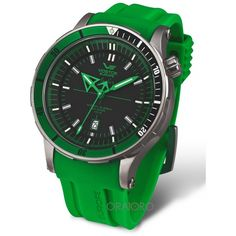 Vostok Europe Anchar Submarine Titanium 3 staps Silver/Green Watch Sport Watches, Cool Watches, Watches For Men, Cool Outfits For Men, Watch Gears, Seiko Automatic, Elegant Man, Elegant Watches, Popular Mens Fashion