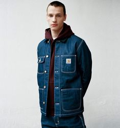 Shop the Carhartt WIP Michigan Coat from the offical online store. Salopette Carhartt, Carhartt Jacket, Carhartt Wip, Mens Work Jacket, Denim Jacket Men, Men Shorts, Men's Denim, Denim Jackets, Moda Masculina