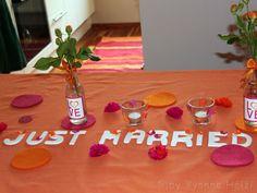 Just Married Tischdeko Diy Wedding, Juice