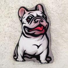 Piesek Buldog Francuski Biały Poduszka Przytulanka Maskotka – Cena | sklep internetowy Psiakrew