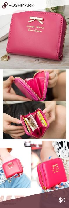 """MUST GO NWT ✨Zipper closure ✨Holds 4 credit cards and has a small interior zipper pocket ✨Perfect for a day of shopping with the girls ✨Measures 4"""" x 4"""" ✅ Use the """"Add to Bundle"""" button to purchase more than one item in my closet at once; you'll receive a bundle discount and only pay one shipping fee! ✅ Price is fair and firm unless bundled Bags Clutches & Wristlets"""