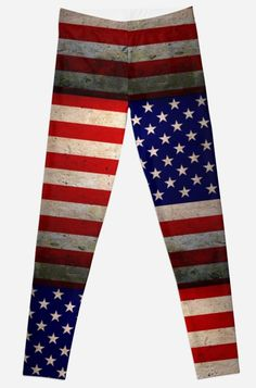 'USA Flag Pattern Patriotic Gift' Leggings by Bithys Online Awesome Leggings, Best Leggings, Iphone Wallet, Iphone Cases, Usa Flag, Ipad Case, Spiral, Samsung Galaxy, Mini Skirts