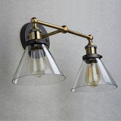Ecopower Industrial Edison Antique Glass 2-Light Wall Sconces Simplicity - - Amazon.com