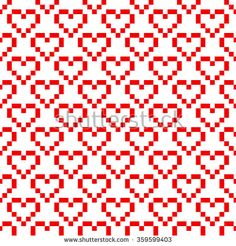 Ornamental Pattern For Knitting And Embroidery Heart Stock Photos Images & Pictures Knitted Mittens Pattern, Fair Isle Knitting Patterns, Knitting Charts, Filet Crochet Charts, Knitting Stitches, Fair Isle Pattern, Cross Stitch Geometric, Cross Stitch Borders, Cross Stitch Patterns