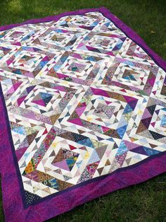 """ugly fabric"" quilt...I can't find anything ""ugly"" about it...I think it's gorgeous!"