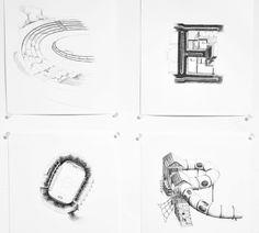 illustrated typography . קוסטה וולאסינוב, מנשר . Konstantin Volosyanov