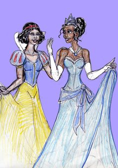 Snow White and Tiana by theaven.deviantart.com on @DeviantArt