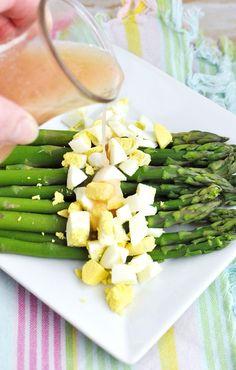 #Easter Side Dish Asparagus with Hard-boiled Egg & Mustard Vinaigrette