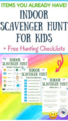 On the hunt for a super fun, but low prep indoor activity for your kids? This indoor scavenger hunt is perfect for high energy, hyper kids who love to play game Games For Toddlers, Indoor Activities For Kids, Family Fun Activities, Kids Printable Activities, Summer School Activities, Free Games For Kids, Babysitting Activities, Learning Activities, Free Activities