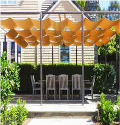 Pergola shade with retractable shade cloth Backyard Shade, Outdoor Shade, Patio Shade, Pergola Shade, Backyard Patio, Pool Shade, Pergola Canopy, Shade For Deck, Pergola Planter