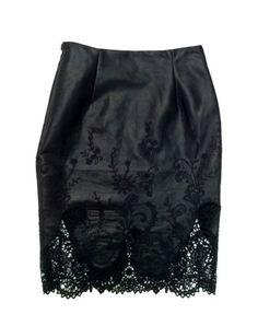 Drea leatherette pencil skirt