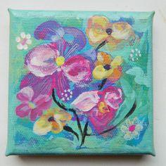 ARTFINDER: flower3 by Muntean Floare - acrylic on canvas ,  10/10 cm/,  varnished,   unframed