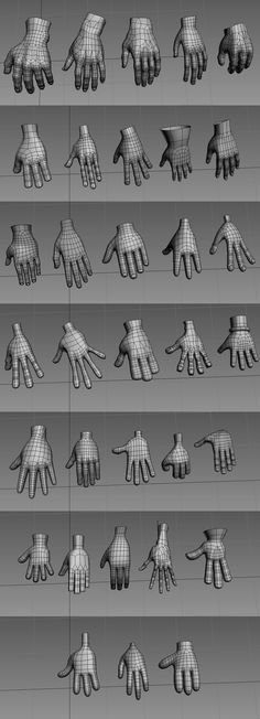 Hand Retopology Reference