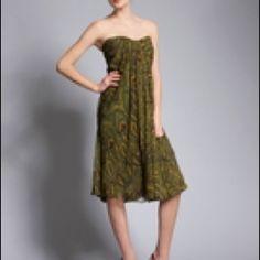 Alexander McQueen Strapless Paisley Dress 42 NWT Alexander McQueen Strapless Paisley-Print Silk Chiffon  Gown.  42 NWT Alexander McQueen Dresses