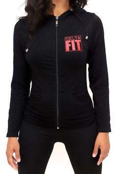 FIT Delta Warm-Up track jacket, black