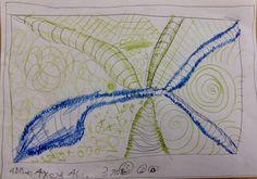 Abbas - Doodle mit Bleistift und Buntstift.