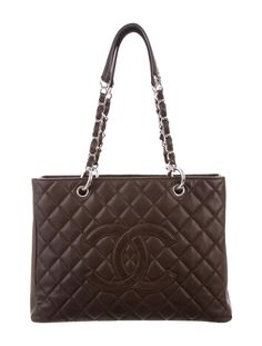 c93d1158f5ffd9 Brown Caviar Grand Shopping Tote Chanel Tote Bag, Chanel Handbags, Black  Leather Handbags,