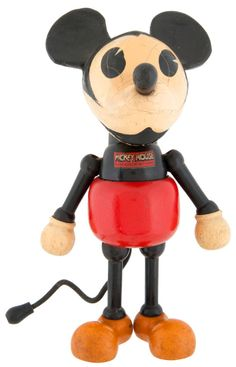 MICKEY MOUSE- LARGE WOOD/COMPOSITION FIGURE BY CAMEO DOLL CO.