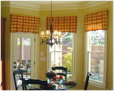 love this for my door in kitchen=bumping up valance to the same height as windows