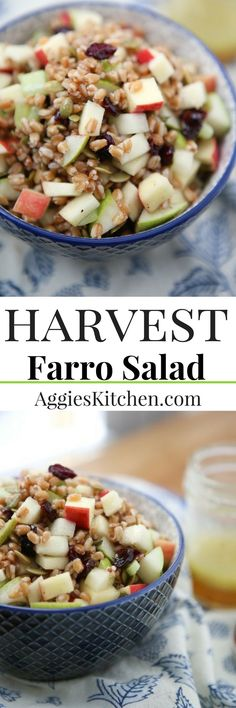 Harvest Farro Salad is chock full of goodness and so much flavor - a delicious vegetarian grain salad to serve over the fall and winter season