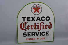 Texaco Oil Advertisement - Coming up for auction on August 1st at the Iowa Gas…