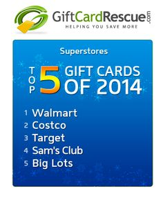 The Top 5 Superstores Gift Cards of 2014. #topgiftcards #holidaygiftideas #superstores #everythingyouneed