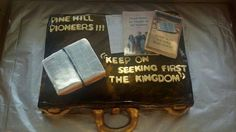 Jehovah's Witnesses: Our official website provides online access to the Bible, Bible-based publications, and current news. Pioneer Gifts, Jw Pioneer, Bible Cake, Jw Bible, Pioneer School, School Cake, Edible Creations, Jw Gifts, Specialty Cakes
