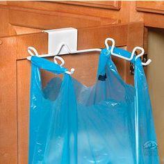 Grocery bag/trash bag holder -