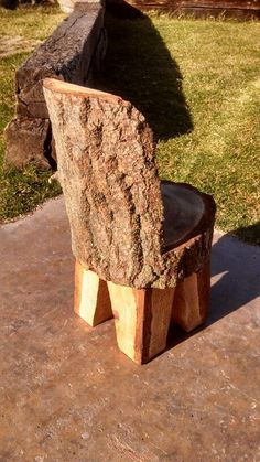 Log chair! For more woodworking tips visit http://www.handymantips.org/category/woodworking/