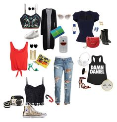 """Boyfriend Jeans"" by brandi-hughes on Polyvore featuring One Teaspoon, Roland Mouret, H&M, SH Collection, Splendid, Lipsy, Converse, Aquazzura, Balmain and Gianvito Rossi"