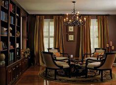Home Library by Kristen Drohan Interior Design Cozy Library, Beautiful Library, Home Libraries, Man Room, Random House, Dream Decor, Portfolio Design, Living Area, Living Room