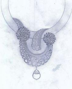 Diamond Bracelets, Diamond Jewelry, Gold Jewelry, Fine Jewelry, Jewelry Necklaces, Pendant Set, Diamond Pendant, Cocktail Jewellery, Jewelry Design Drawing