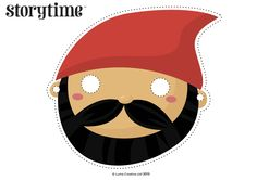 Seven Dwarf Masks to act out Storytime Issue 16's fairy tale. Free downloads and activities! ~ STORYTIMEMAGAZINE.COM