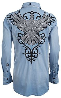 warm and nice looking Western Shirts, Western Wear, Camisa Rock, Affliction Clothing, African Shirts For Men, Country Wear, Cowboy Outfits, Mens Clothing Styles, Stylish Men
