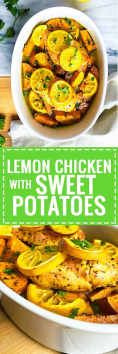 Lemon Chicken with Sweet Potatoes - Full of healthy and fresh flavors!