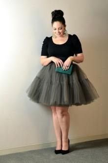 beautiful plus size tutu, must diy so I can rock this outfit!