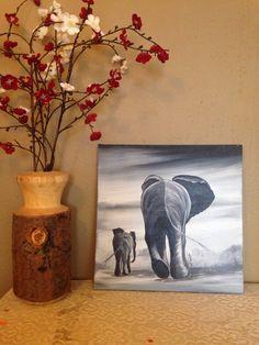 This beautiful original acrylic painting is by Ugandan artist, Davis Muwumba.