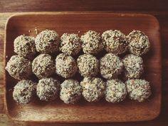 wander lightly - date + nut bliss balls Bliss Balls, Almond, Tasty, Treats, Snacks, Wander, Breakfast, Healthy, Plastic